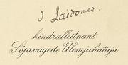 Johan Laidoneri autogramm.png