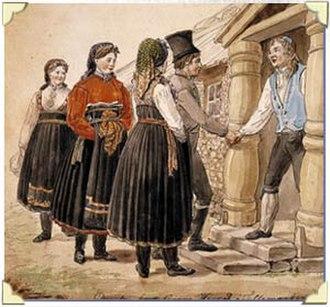Johannes Flintoe - Image: Johannes flintoe norwegian folk costume from telemark