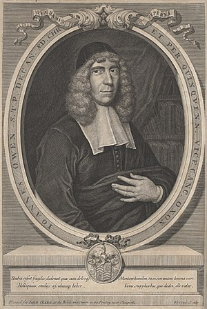 History of the Puritans from 1649 - John Owen (1616-1683), whom Cromwell named vice-chancellor of the University of Oxford in 1651 and who was considered by many to be the leader of the Independents in the 1650s.