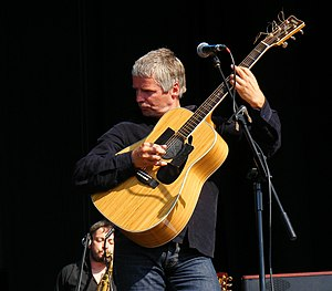 John Bramwell - John Bramwell performing with I Am Kloot at Chester Racecourse on 3 July 2011