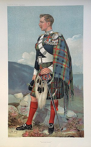John Stewart-Murray, 8th Duke of Atholl - Vanity Fair caricature by Spy (Leslie Ward), 23 March 1905.