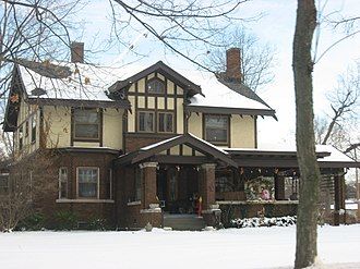 National Register of Historic Places listings in Allen County, Indiana - Image: John H. and Mary Abercrombie House