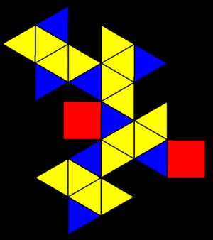 Snub square antiprism - Image: Johnson solid 85 net