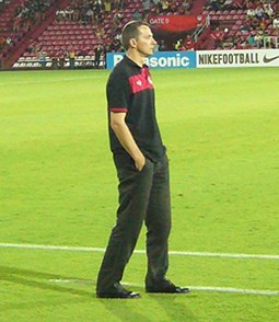 In 2012, Slavisa Jokanovic became the first manager in the history of the Thai League to win a league with unbeatable in the 34-game format Jokka.jpg