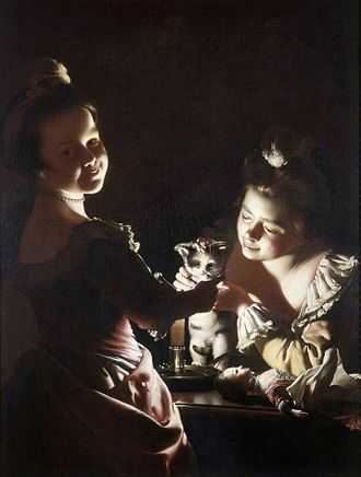 Two Girls Dressing a Kitten by Candlelight - Image: Joseph Wright of Derby. Two Girls Dressing a Kitten by Candlelight. c. 1768 70