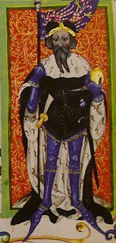 Jobst von Moravia in the Gelnhausen Codex, 15th century