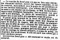 Journal des débats - 4 mars 1840 - page 3 - 4ème colonne - la mort du boeuf gras survient dans la rue durant le défilé du Carnaval.jpg