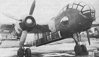 Junkers Ju 288 - Sole Ju 288A prototype (Ju 288 V5) with Junkers Jumo 222 engines and ducted spinners