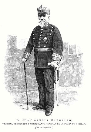 First Melillan campaign - Picture of Juan García Margallo published in La Ilustración Española y Americana, October 22, 1893