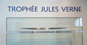 Jules Verne Trophy - The Trophy, displayed at the National Maritime Museum, Paris.
