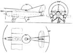 Junkers K 39 3-view arc of fire L'Aérophile April,1928.png