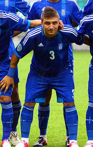 Kostas Stafylidis - Stafylidis in a Greece under-19s line-up prior to a match against England under-19s in November 2012
