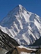 Der K2 vom Concordiaplatz gesehen