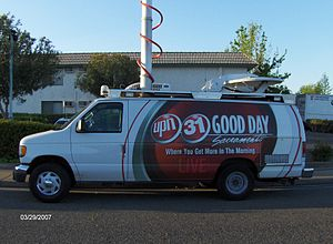 KMAX-TV news van set with the old UPN colors c...