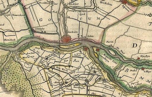 Kaart loevestein 1645