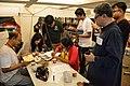 Kaberi Roychowdhury and Tridib Kumar Chatterjee at Wikipedia Booth - Apeejay Bangla Sahitya Utsav - Kolkata 2015-10-10 5666.JPG