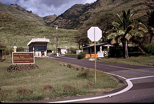 Kaena Point Satellite Tracking Station - Entrance to the KPSTS