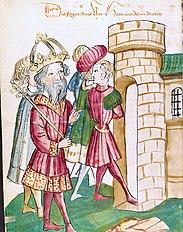 Emperor Heinrich II has Prince Pandulf IV of Capua imprisoned