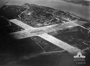 Kallang Airport - Image: Kallang Airport runway 1945