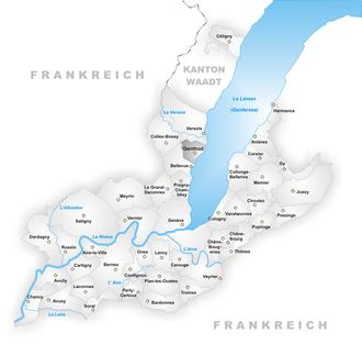Genthod - Image: Karte Gemeinde Genthod