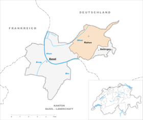 Map of Riehen