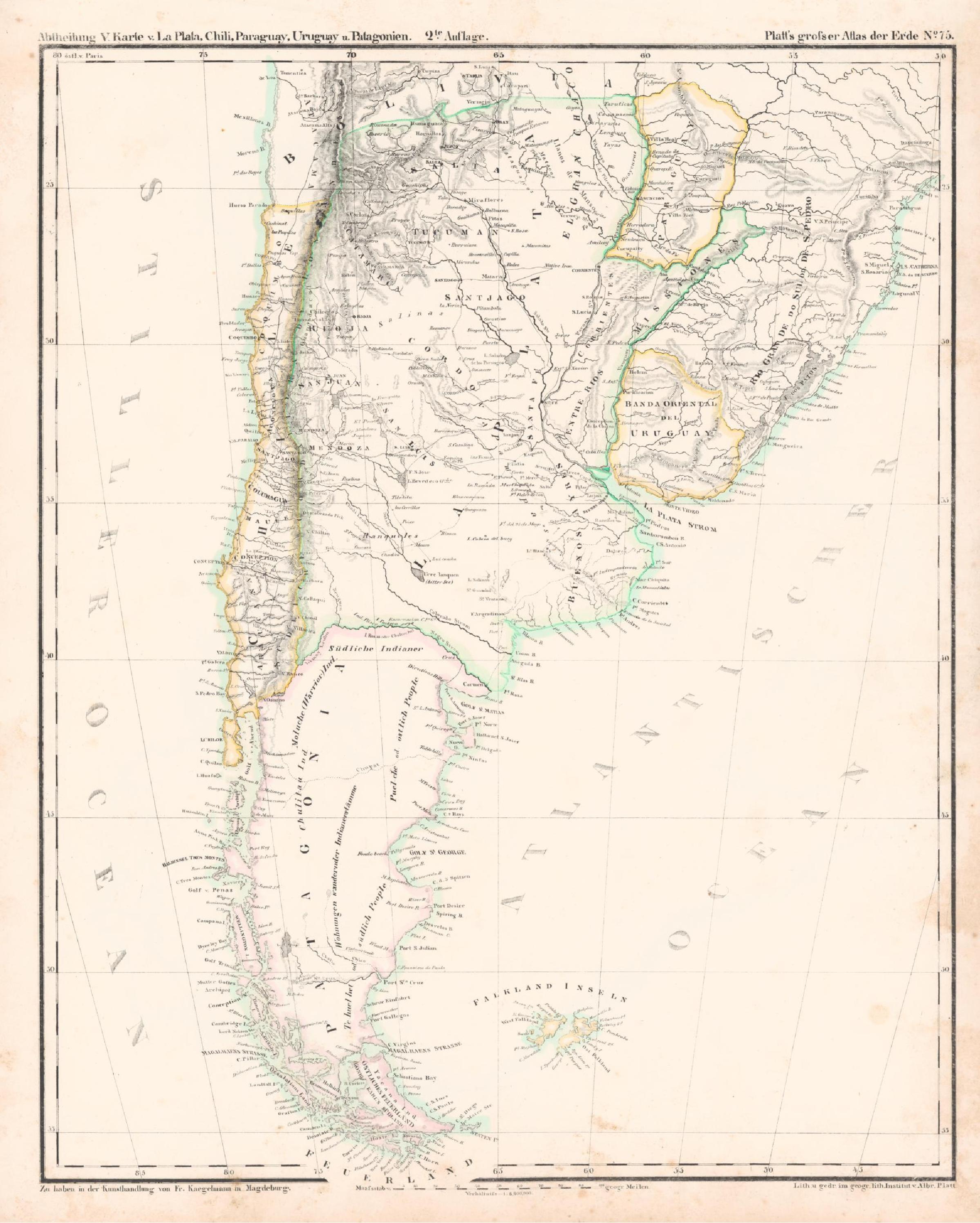 File Karte Von La Plata Chili Paraguay Uruguay Und Patagonien