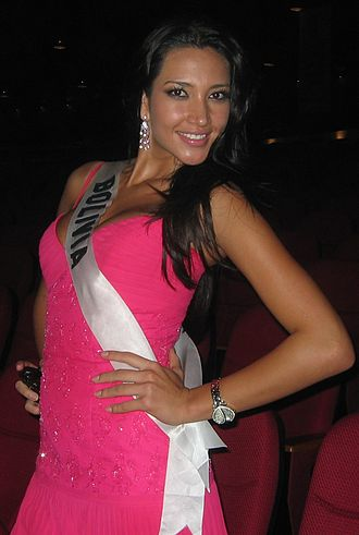 Miss Bolivia - Katherine David Céspedes in Miss Universe 2008.