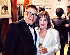 Patti LuPone - LuPone with artist Ken Fallin at the Wall Street Journal's Tony Awards party, which LuPone hosted and at which Fallin's work was auctioned for charity
