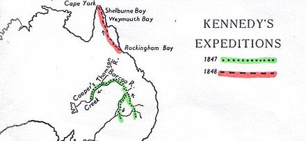 Kennedy's expeditions in the interior of Queensland Kennedy-map.jpg