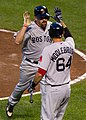 Kevin Youkilis , Will Middlebrooks (7253775924).jpg