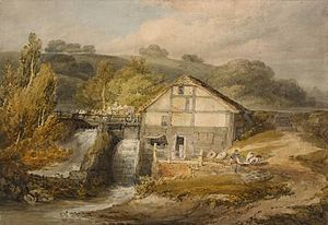 Pembury - Keyes Mill, Pembury by J.M.W. Turner, c1796