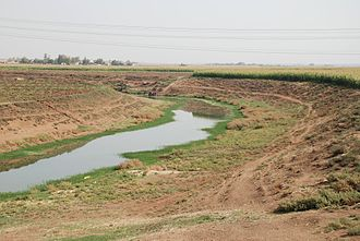 Rojava - The Khabur river, near Tell Halaf, Ras al-Ayn