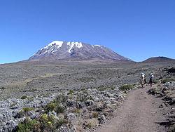 Kilimanjaro (cume Kibo, onde fica o Pico Uhuru)
