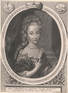 Kilian, Philipp - Archduchess Maria Theresa of Austria (1684-1696).png
