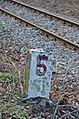 Kilometer stone 5 at Kaltenleutgebner Bahn 02.jpg
