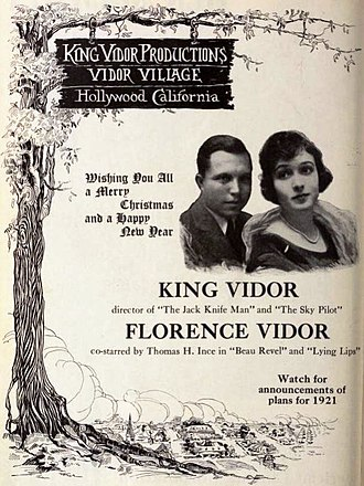 King Vidor - King Vidor and Florence Vidor, December 25, 1920.