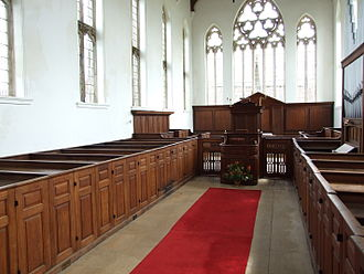 Pew - Box pews in  St John the Baptist, King's Norton, Leicestershire