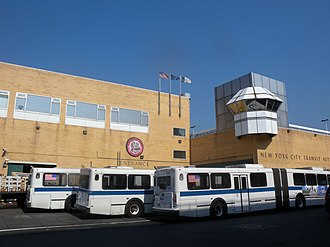 Bus depots of MTA Regional Bus Operations - East side
