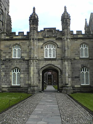 King's College, Aberdeen - Entrance into the College quadrangle