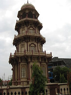 Kirti Stambh, a tower commemorating the history of the town and its former ruling dynasty