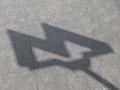 Kitay-gorod station entry, shadow of Moscow Metro sign (Вход на станцию Китай-город, тень от знака Московского Метро) (4929027028).jpg