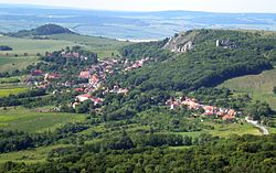 Klentnice seen from Děvín