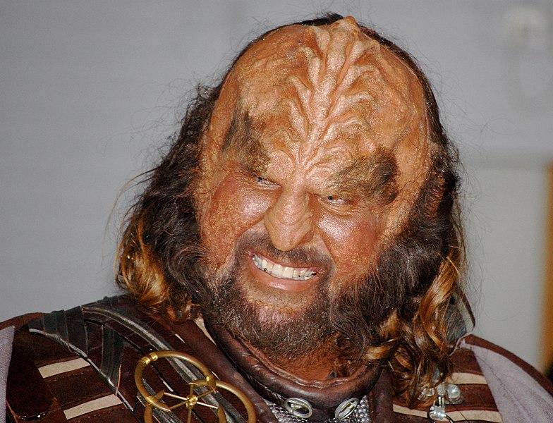 Someone made up to look like a Klingon