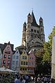 Koeln Altstadt Nord Fischmarkt 5-9 Denkmalnummer 5613 Groß St Martin Martinspförtchen 8 Denkmalnummer 851.jpg