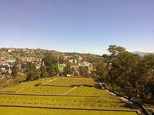 Kohima War Cemetery - Kohima Cemetery with view of Kohima town