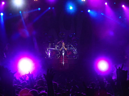 Korn performing live at the Metaltown Festival in June 2011 Korn-Live-Metaltown 2011.jpg