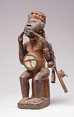 Power statue (nkisi), sitting man