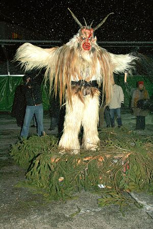 Pre-Christian Alpine traditions - Image: Krampus Salzburg 5