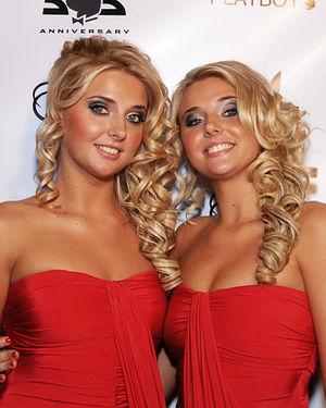 Kristina and Karissa Shannon - Kristina and Karissa Shannon at Playboy's 55th Anniversary Party on 12 Dec 2008