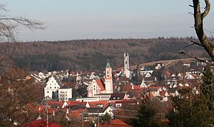 Krumbach, Bavaria - View of Krumbach from the west
